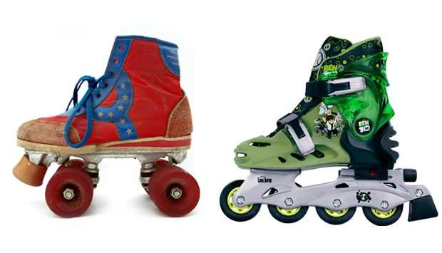 O patins tradicional, com quatro rodas paralelas, surgiu em 1863, depois do inline, que foi patenteado em 1819! Mas foi com os patins de roda paralelas, mais fáceis de se equilibrar, que quem cresceu antes dos anos 90 brincou. Os patins inline viraram feb<br>