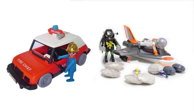 Os bonecos do Playmobil quase não mudaram nos seus 38 anos de existência. Mas os acessórios que os acompanham, sim! Se antes eram carriolas de plástico, hoje são cenários de alta tecnologia, como a linha Agentes Secretos, que vem com alarme que dispara co<br>