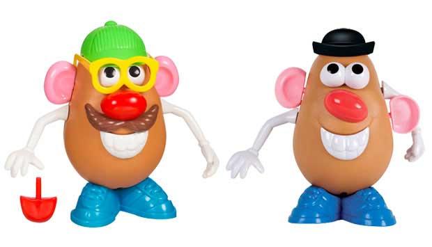 A batata de plástico na qual se encaixam as partes do rosto foi criada em 1952. Apesar de ter feito muito sucesso desde o início, foi depois que apareceu no filme Toy Story (1995) que o Sr. Cabeça de Batata ganhou fama. O brinquedo atual fala e tem cronôm<br>
