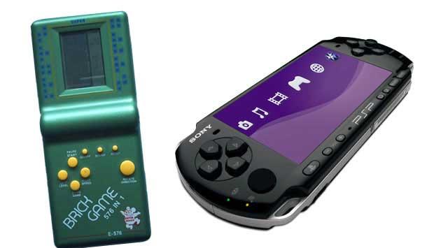 Sucesso nas décadas de 70 e 80, os Minigames eram videogames portáteis que rodavam apenas um jogo - o mais famoso era o Tetris. Hoje ele está ultrapassado, tanto que é vendido em lojas de R$ 1,99! Afinal, existe o PSP (Play Station Portátil, da Sony) que<br>