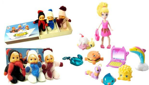 Bonequinhas de pano que vinham dentro de caixinhas do tamanho de caixas de fósforo: essas eram as Fofoletes, da Estrela, que toda menina da década de 80 queria colecionar. Hoje, as bonecas de bolso são as Polly Pocket, da Mattel. De plástico, foram lançad<br>