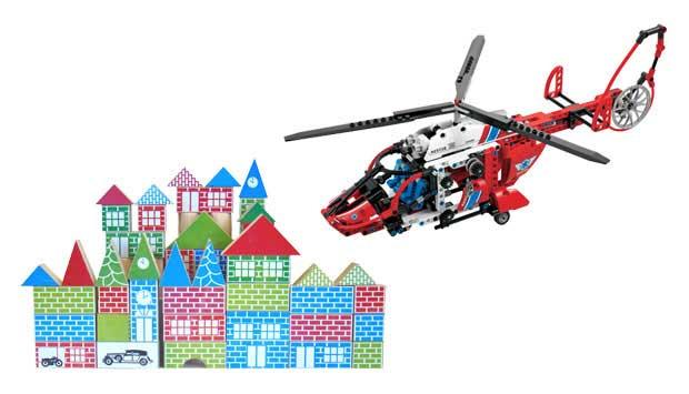 Formado por pecinhas de madeira pintadas como tijolinhos, o Pequeno Arquiteto foi lançado em 1943. Em 1958, surgiu o Lego, com tijolinhos de plástico que se encaixam. A grande variedade de possibilidades de montagem do Lego fez do brinquedo um sucesso. Ho<br>