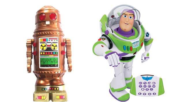 Quando chegou às lojas em 1982, o robô Ar-tur, da Estrela, era o top da modernidade. Tinha 60 cm de altura, andava, girava, piscava e emitia sons. Hoje, o top para a criançada é o Buzz Lightyear Ultimate, da Yellow. O robô mede 42 cm, tem controle remoto,<br>