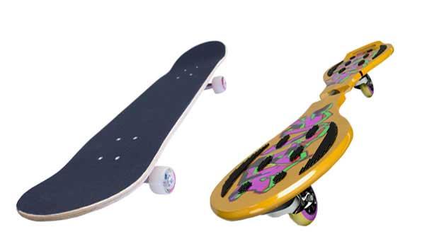 Qualquer menino que nasceu a partir dos anos 60 já andou ao menos uma vez de skate, fazendo manobras radicais. Nos últimos anos, surgiram outras variações do equipamento, como o waveboard. Com duas placas separadas, ligadas por uma barra, que podem girar<br>