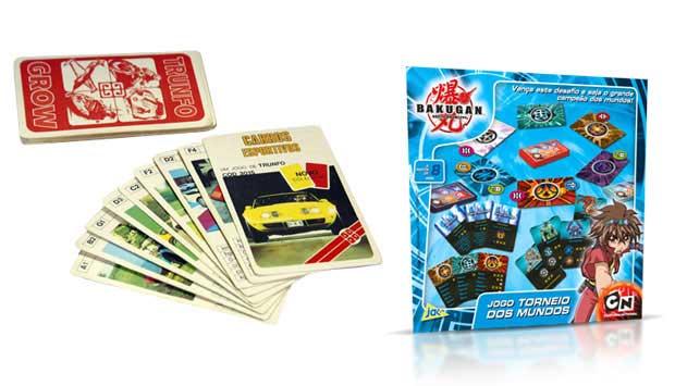 O jogo de cartas Super Trunfo fez sucesso nos anos 80 e inicialmente tinha o tema de carros. Os participantes deviam ganhar as cartas dos adversários com base nos atributos das que possuíam, como velocidade ou potência. Hoje, existem jogos parecidos com t<br>