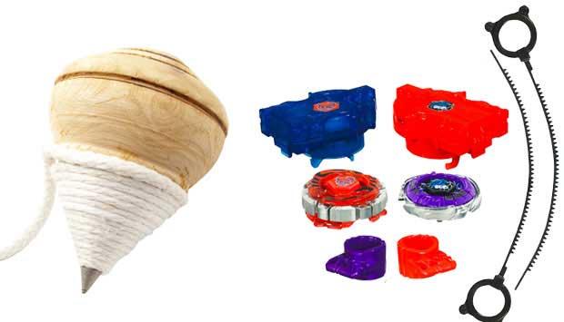 O pião é um brinquedo milenar que entreteve muitas gerações. Basta puxar a corda e deixar a peça, de plástico ou madeira, girando. Sua ideia original foi adaptada para gerar novos brinquedos, como os BeyBlade, inspirados no desenho animado de mesmo nome.<br>