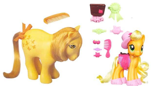 O desenho animado Meu Pequeno Pônei, produzido entre 1986 e 1987, fez tanto sucesso que rende brinquedos até hoje. Os primeiros bonecos inspirados na série eram da Estrela, coloridos com longas crinas. Atualmente, eles são fabricados pela Hasbro e vêm com<br>