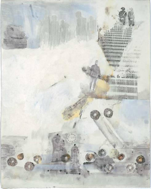 Litogravura de Robert Rauschenberg: série foi inspirada em um dos 34 cantos que integram a primeira parte do clássico A Divina Comédia, de Dante Alighieri, intitulada O Inferno