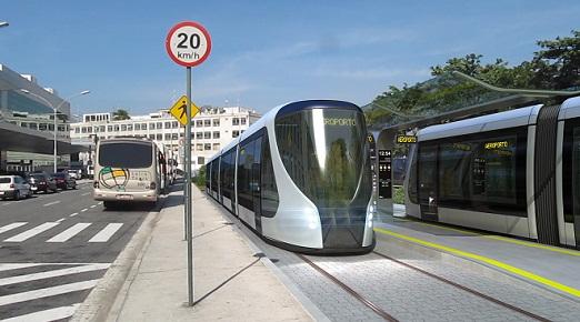 O aeroporto será um dos locais em que o VLT terá estação. Quando estiver em pleno funcionamento, em 2016, vai contar com 32 carros<br>