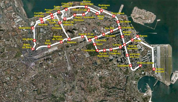 seis vão percorrer 26 quilômetros da região central da cidade, que vai ganhar 41 estações. As paradas terão, em média, 400 metros de distância<br>