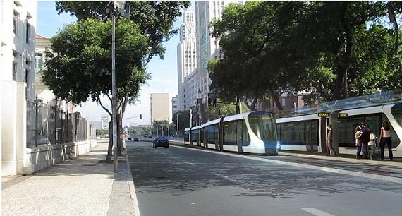 Os VLTs também vão trafegar pela avenida e terão estação com conexão com o teleférico do Morro da Providência<br>