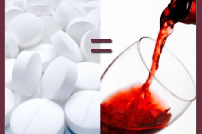 aspirina-vinho