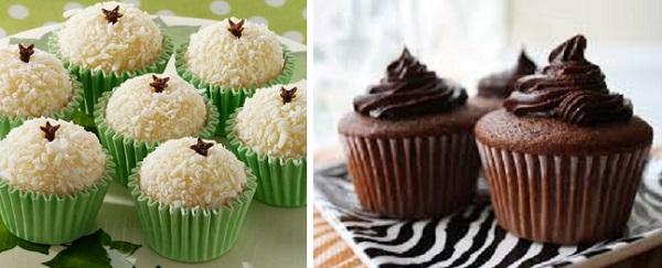 beijinhos e cupcake