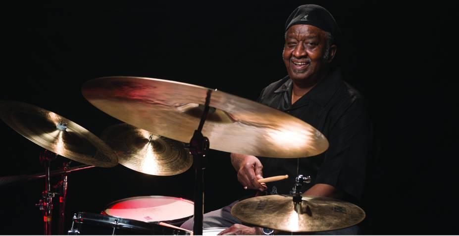 O baterista Bernard Purdie: aula e apresentação ao vivo
