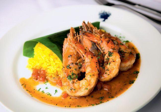 Camarão à provençal flambado com arroz de jasmim: no menu (Foto: Lucas Lima)
