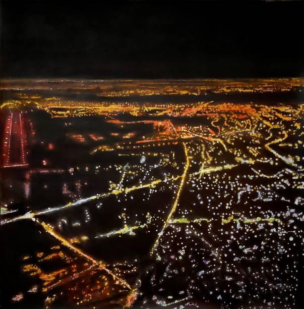 Budapeste por Kilian Glasner: vistas aéreas iluminadas