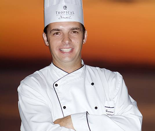 Jerome Dardillac, chef executivo do restaurante Karu Grill, do Hotel Tropical.