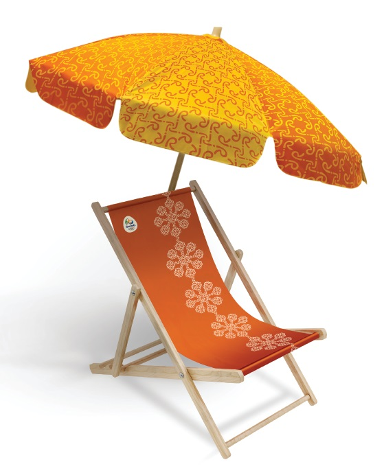 Cadeira de barraca - tramas do Brasil