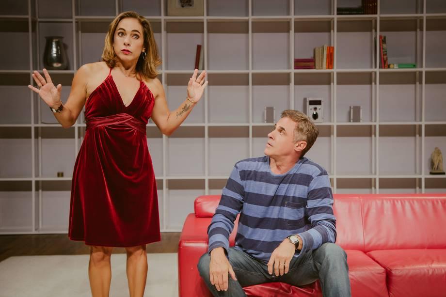 Cissa Guimarães e Oscar Magrini: comédia inspirada no livro homônimo de Martha Medeiros