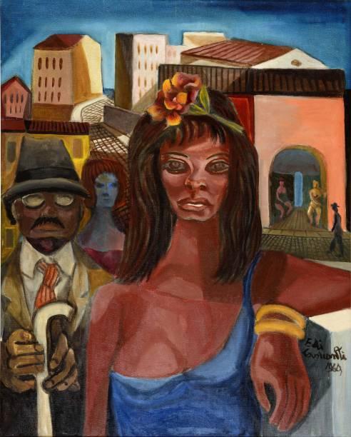 Di Cavalcanti: Cena da Lapa (óleo sobre tela, 1969)