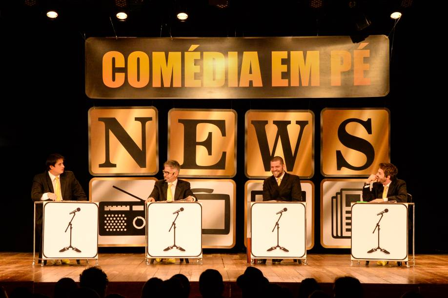 Comédia em Pé News: novo quadro do espetáculo traz notícias da semana comentadas de forma divertida