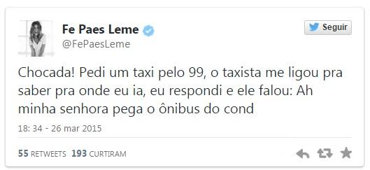 fernanda paes leme app taxi