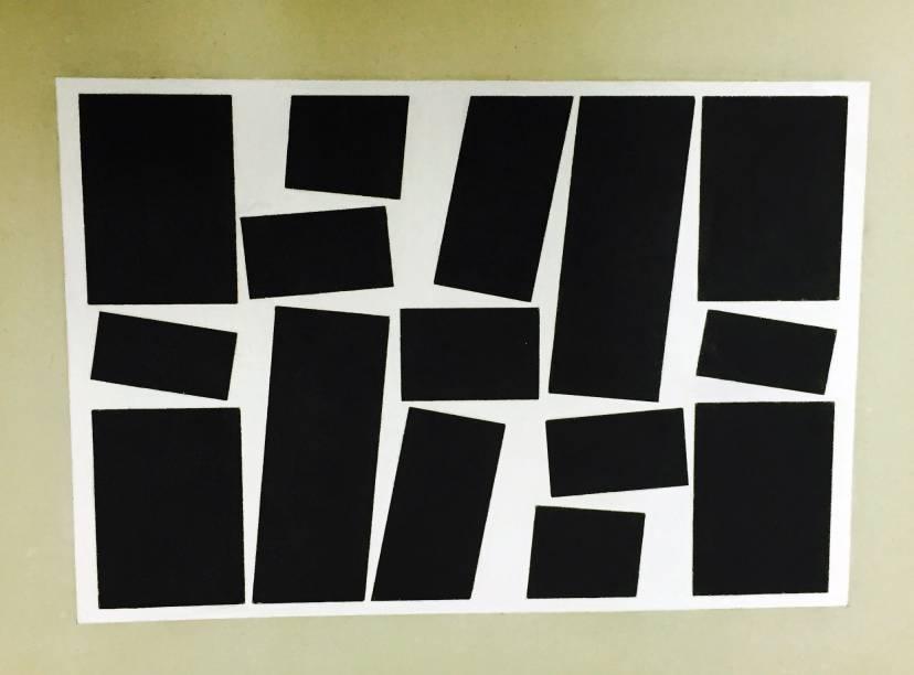 Metaesquema nº 240: guache sobre cartão de Hélio Oiticica