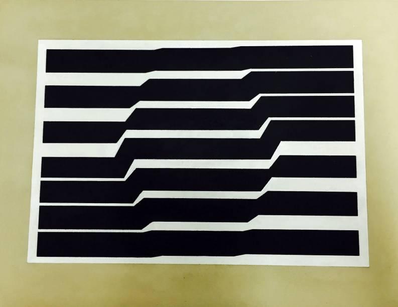 Metaesquema nº 243: guache sobre cartão de Hélio Oiticica