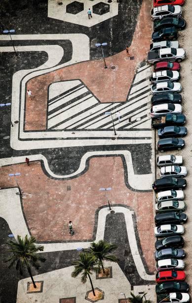 Foto de Bruno Veiga: vistas aéreas de calçadas de pedras portuguesas no Rio