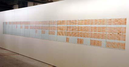 Obra sem título da série GFluidos Corretores, de 1976: parte do acervo da exposição