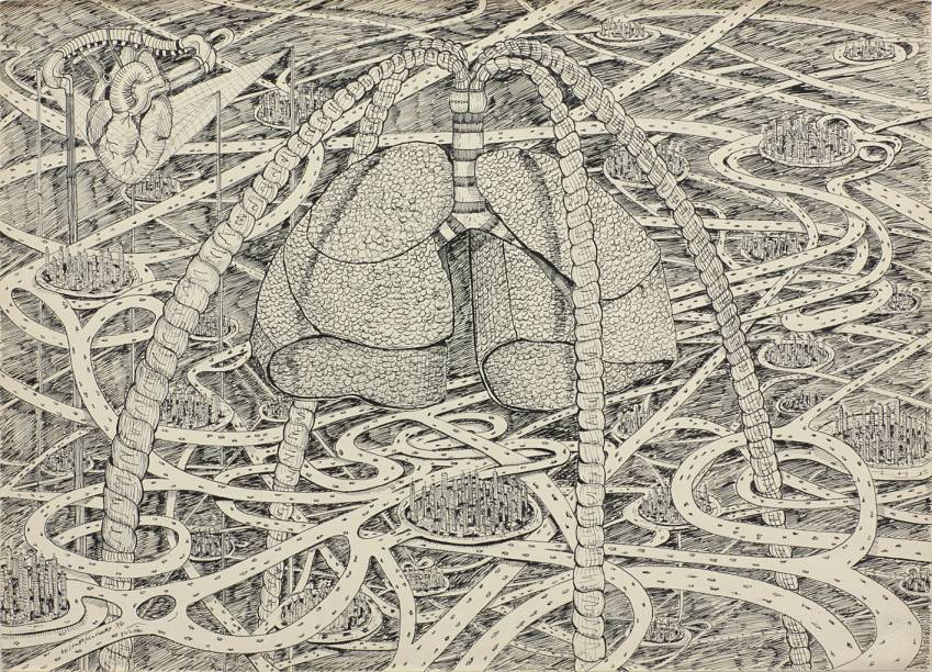 Pulmão (1976): obra de Milton Machado