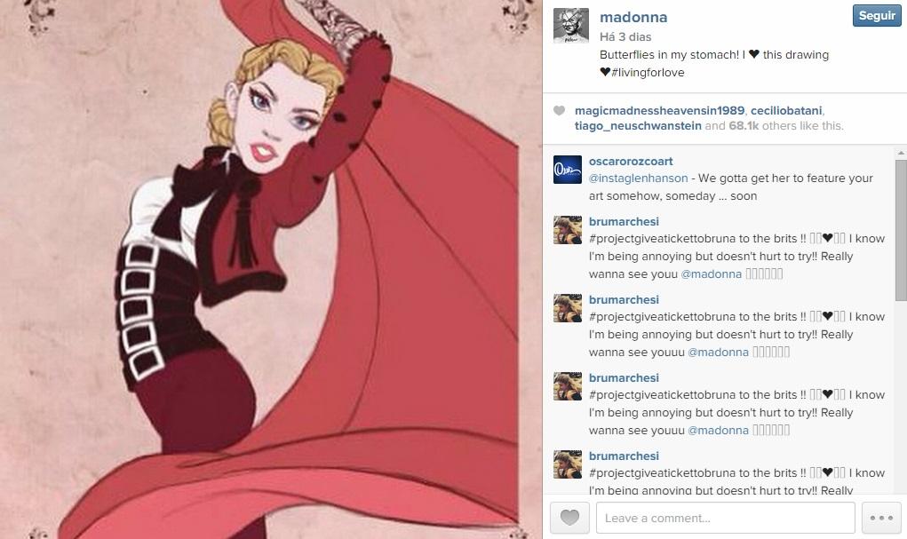 madonna instagram desenho