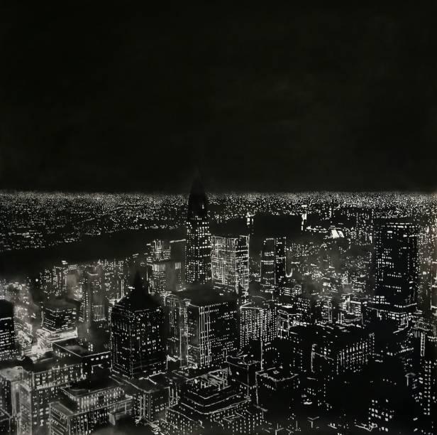 Manhattan por Kilian Glasner: vistas aéreas iluminadas