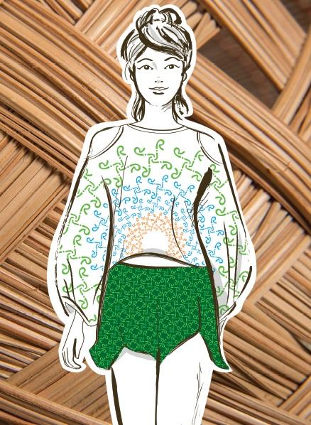 Modelo roupas - tramas do Brasil