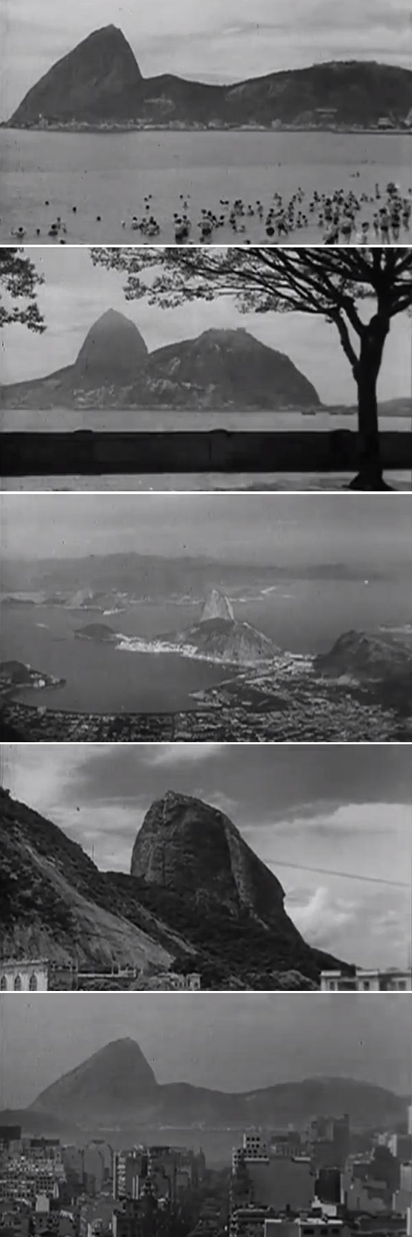 Fotogramas do filme The Screen Traveller sobre o Rio de Janeiro
