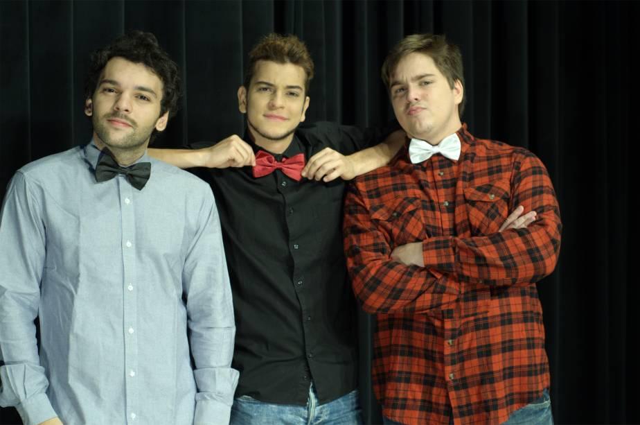 Raphael Ghanem, Victor Lamoglia e Lucas Salles: comédia de improviso