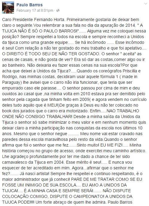 paulo barros facebook