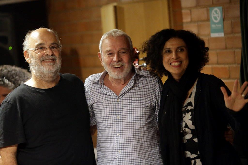 Jaques, Lyra e Paula: ensaio para o show no Parque Madureira