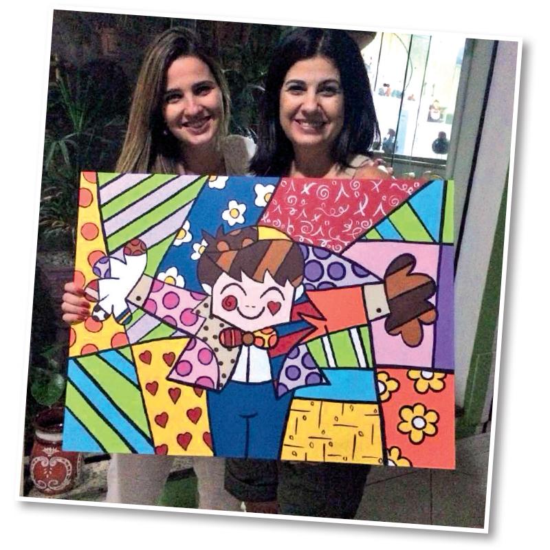 Clarissa Garotinho: quadro pintado pela mãe de presente (Crédito: reprodução / Instagram)
