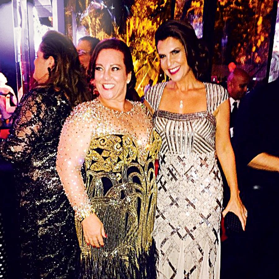 Ana Paula (à dir.) com Priscilla:  a joalheira desbancou Luiza Brunet e Glória Maria (Crédito: Reprodução)