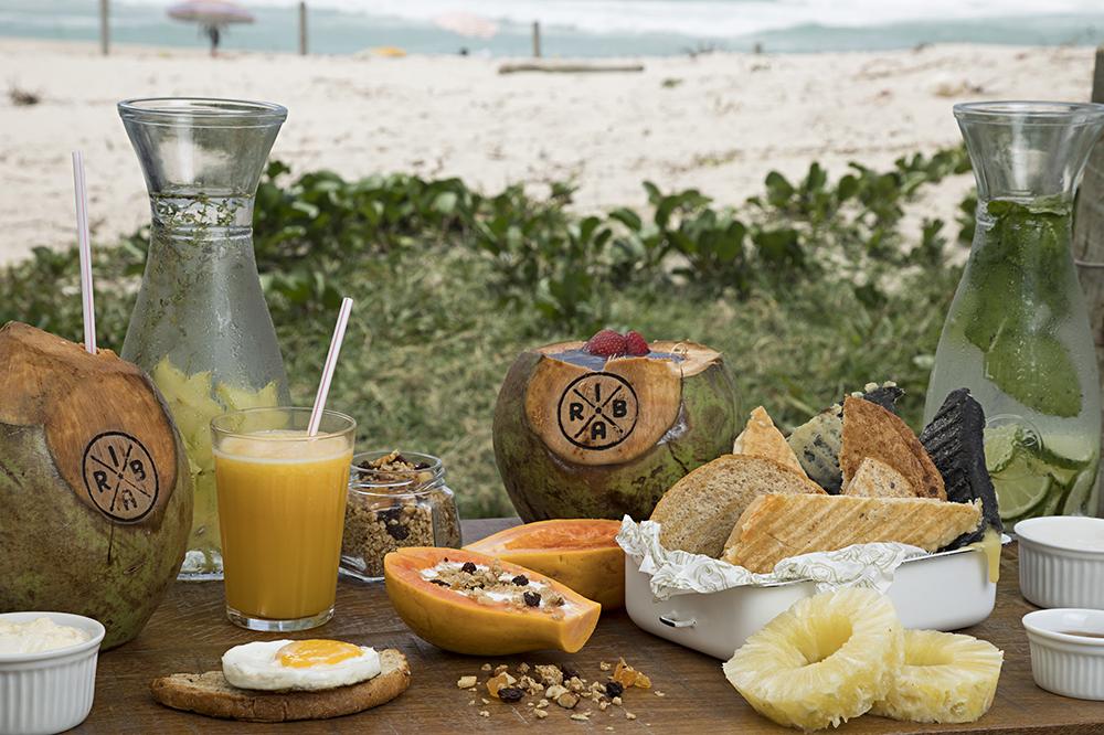Opção do menu de café da manhã dos quiosques Riba