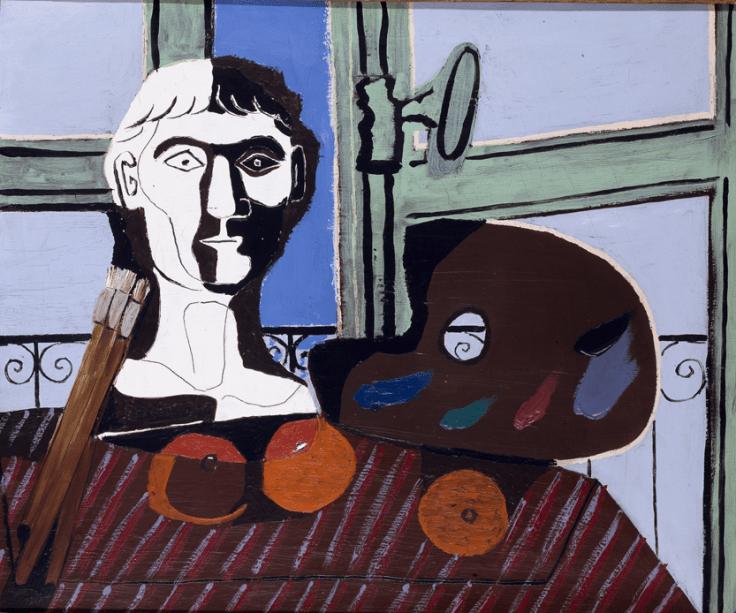 Busto e Paleta (1925), de Picasso: modernidade espanhola