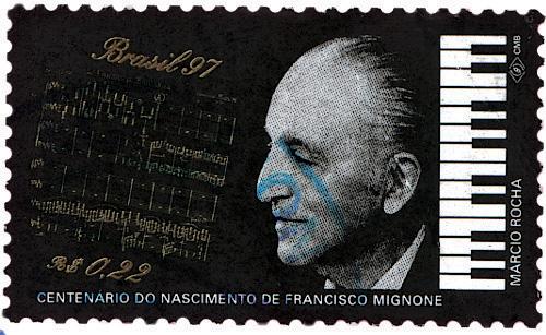 Francisco Mignone: homenageado com um selo na passagem do seu centenário, em 1997