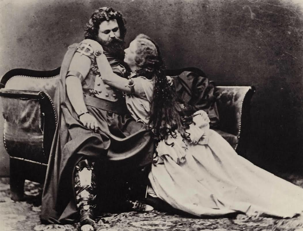 Ludwig and Malwine Schnorr von Carolsfeld in the title roles of the original production of Richard Wagner's Tristan und Isolde in 1865.