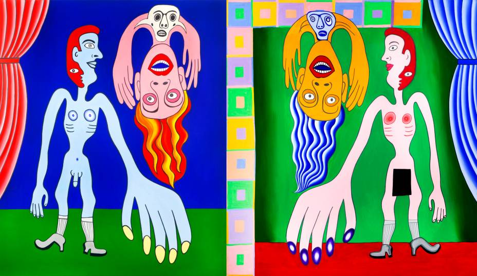 Díptico da Tarja Preta: acrílica sobre tela