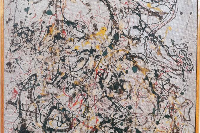 Jackson Pollock na exposição Em Polvorosa