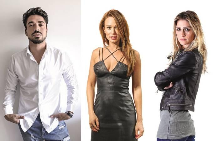 Fil Freitas com as clientes Mariana Ximenes e Amora Mautner