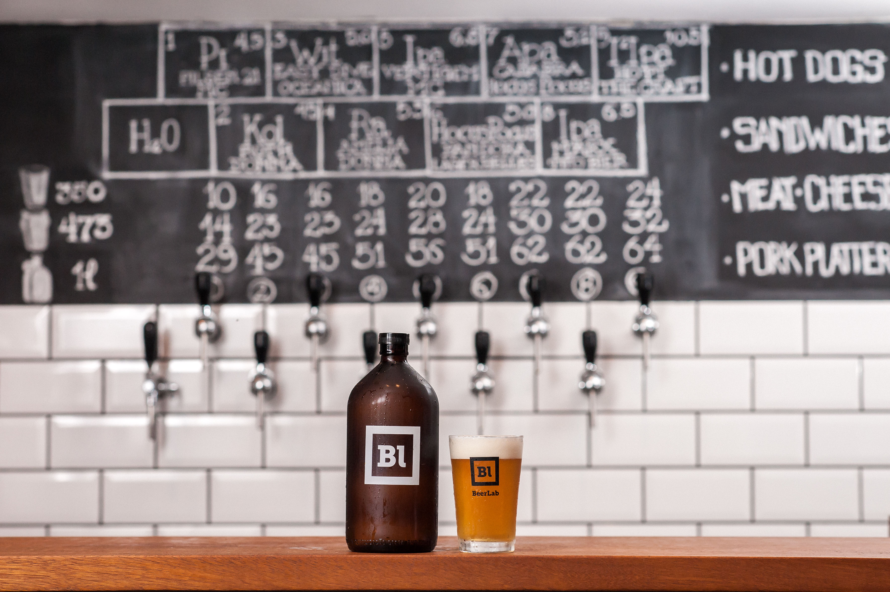 BeerLab: nove torneiras para encher os growlers