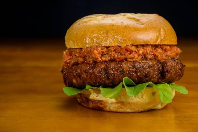 PepperDog; hambúrguer vegetariano