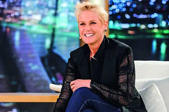 "Xuxa em seu programa ""Xuxa Meneghel"", da Rede Record."